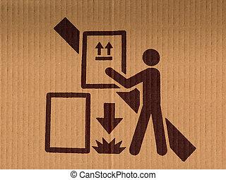 boîte, produit, empilement, goutte, signe, emballage, pas