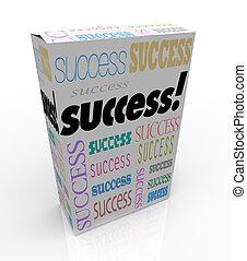 boîte, produit, instant, reussite, soi, -, amélioration, ...