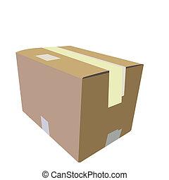 boîte, réaliste, illustration