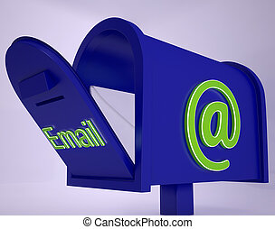boîte, reçu, email, courrier, email, spectacles