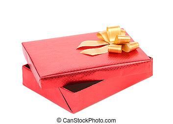 boîte, ribbon., ouvert, cadeau