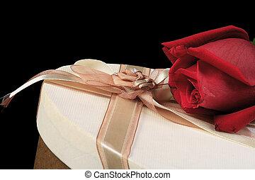 boîte, rose, 3, cadeau