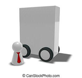 boîte, roues