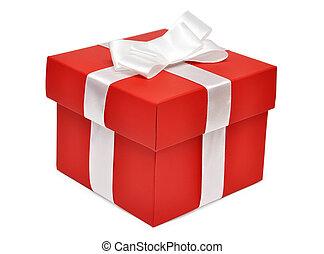 boîte, rouges, cadeau