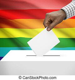 boîte, série, national, -, lgbt, drapeau, fond, vote