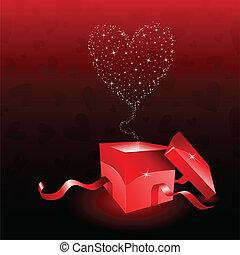 boîte, saint-valentin, cadeau