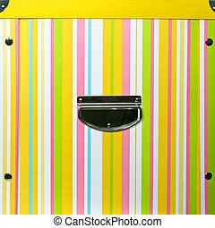 boîte, straps, jaune