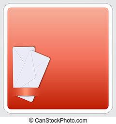 boîte, texte, enveloppe, deux