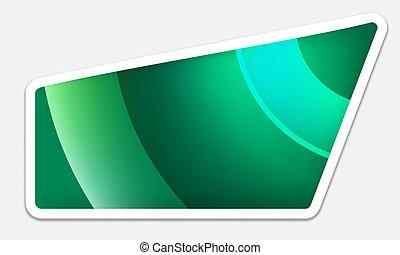 boîte, texte, vert
