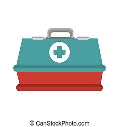 boîte, urgence, kit