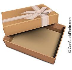 boîte, vecteur, cadeau