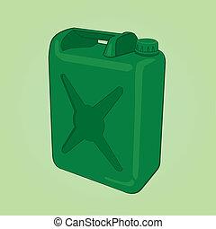 boîte, vecteur, carburant
