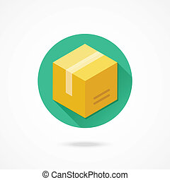 boîte, vecteur, icône