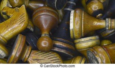 boîte, vendange, échecs