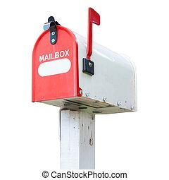 boîte, vendange, courrier