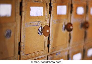 boîte, vendange, nous, courrier