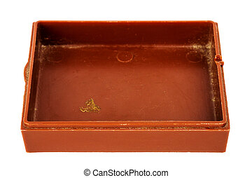 boîte, vieux, plastique