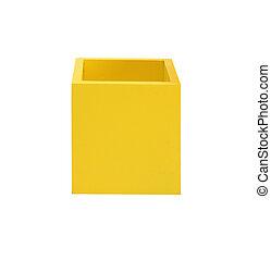 boîtes, blanc, coloré, isolé