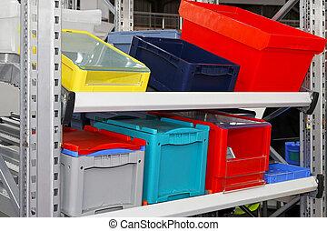 boîtes, caisses