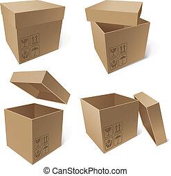 boîtes, carton, collection
