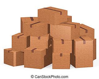 boîtes, carton