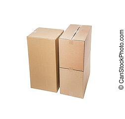 boîtes, carton, pile