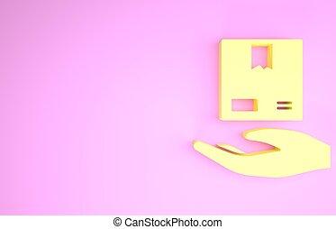 boîtes carton, render, illustration, concept., isolé, icône...