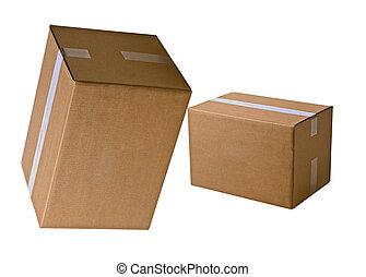 boîtes carton, tas