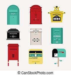 boîtes courrier, vecteur
