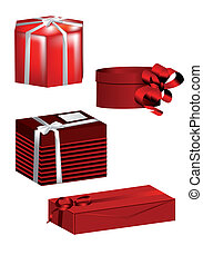 boîtes, ensemble, cadeau
