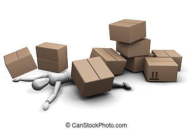 boîtes, homme, sous