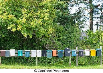boîtes lettres, rang