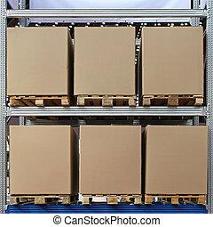 boîtes, palettes