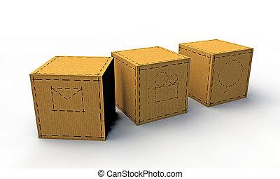 boîtes, papier