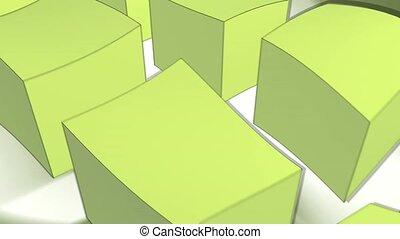 boîtes, vert