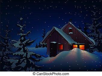 boże narodzenie, śnieżny