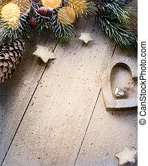 boże narodzenie, sztuka, ozdoby, tło, świąteczny