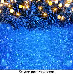 boże narodzenie, tło, sztuka, śnieg, błękitny