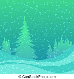 boże narodzenie, tło, zima, las