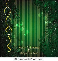 boże narodzenie, wektor, backgro, świąteczny