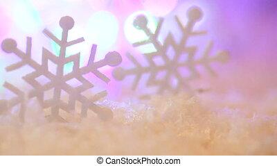 boże narodzenie, zabawki, płatki śniegu