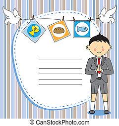bo, communion, card., premier, invitation