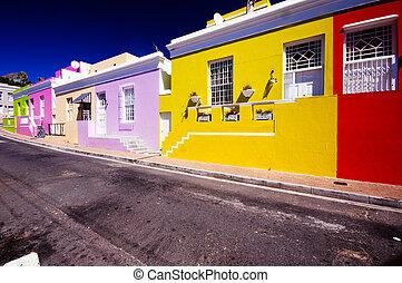 Bo kaap suburbs,Cape Town, South Africa