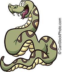 Boa constrictor - Happy cartoon boa constrictor snake. ...