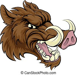 Boar Sports Mascot - A boar razorback sports mascot ...