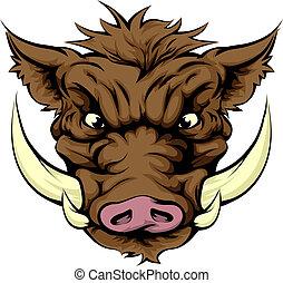 Boar sports mascot character - A tough boar animal character...