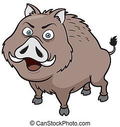 Boar - Vector illustration of Boar