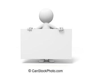Board - a people is holding a board