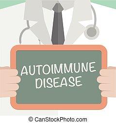Board Autoimmune Disease - minimalistic illustration of a...