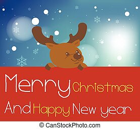 board., christmas.reindeer, 陽気, 保有物, 赤